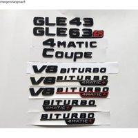 Gloss Black Letters GLE43 GLE63 GLE63s V8 BITURBO 4MATIC+ Fender Trunk Emblem Emblems Badges sticker for Mercedes Benz AMG W166 C292