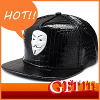 Tampa para chapéu homens mulher beisebol su.s. V-Word Vendetta Team Máscara Movimento Etiqueta Hip Hop Pu Pipping