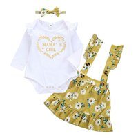 Spring Flower Baby Suits Girls Outfits Infant Sets Long Slee...