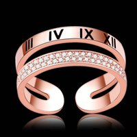 소녀 316L 스테인레스 스틸 연인 웨딩 다이아몬드 사랑 반지 18K 로즈 핑크 골드 가득한 약혼 anel anillo 크기 6,7,8,9 여성