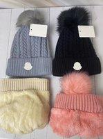 Зимняя мужская и женская чистая цветная вязаная шляпа, теплые помпомы, цветные крышки, выложенные шерстяными шляпами, твердые напольные крышки, 6 цветов