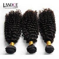 Cheveux Curly indiens Non transformés Indian Kinky Curly Humain Cheveux Humains Weave Bundles 3pcs Lot 8A Grade Indien Jerry Curls Extensions de cheveux Naturels Noir Naturel