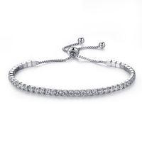 Pulseras plateadas Pulseras de diamante completo Cadena de cristal Fit Pandora Rhinestone Brazalete Brazalete Mujer regalo femenino BR002 15 T2