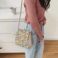 Kız Yün Crossbody Satchel Çanta PU Deri Kadınlar Inci Omuz Messenger Çanta Alışveriş için Seyahat Aksesuarları