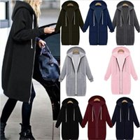 Laamei Autumn Winter Casual Women Long Hoodies Sweatshirt Co...