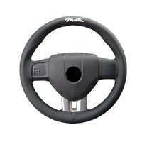Steering Wheel Covers 15 Inches Hand Sewing Car Soft Leather Braid With Needle And Thread For Miata