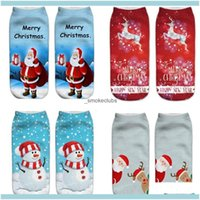 Decorations Festive Party Supplies Home & Garden2021 20 Colors 3D Printed Christmas Pattern Womens Boat Socking Santa Claus Series Expressio