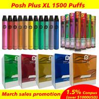 Cigarros eletrônicos Posh PLUS XL 1500 Puff Disable POD Cartucho Pré-enchido Vapo Vações Stick Style E Cigarro Portable