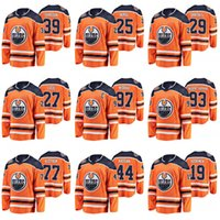 Edmonton Oilers Leon Draisaitl 40 aniversario Jersey Conor McDavid Ryan Nugent Hopkins Miko Koskinen Milan Lucic Chris Russell Oscar Klefbom Hockey Jerseys