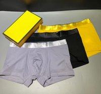 2021 Designer Brand Womens Boxer Briefs Mens Underpants 100% Algodão Respirável 3 Peças / Caixa Sexy Confortável Casal Bonito