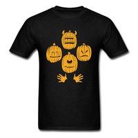 Pumpkin Group of 4 T-shirt Man Halloween t Shirt Teens Gift Clothing Novelty Cartoon Printed Tops Hip Hop Tee Skull Tshirt [<ncbhsw4@163.com
