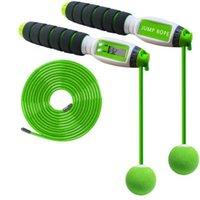 Pular cordas 2-em-1 sem fio inteligente eletrônico digital fisional pular corda para crianças adultos portátil aptidão equipamentos body buildin