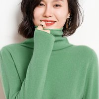 Женские свитера Белиарст 100% чистая шерсть кашемировой свитер женщины с кучей шеи пуловер тонкий сплошной цвет вязаный дна рубашка плюс размер