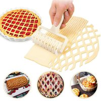 Baking Moulds Plastic Cutters Dough Mesh knifes High Quality Doughs Lattice Cuteer Pull Net Wheel Pie Pizza Biscuit Roller Knife Puncher Bakeware Kitchen Tools