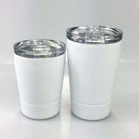 DIY sublimação 8oz tumblers tumblers copos de aço inoxidável copos de viagem crianças garrafa de água veículo caneca de cerveja caneca com tampas 97 s2