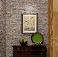 Обои прямоугольник кирпич 3D стереоскопические рельефные обои рулоны / гостиная спальня телевизор фона стены оформление декор бумаги папье peint