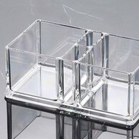 Tissue Boxes & Napkins Clear Acrylic Cocktail Napkin Holder Box Paper Serviette Dispenser Bar Caddy Straws Organiser For Dining Table Home D