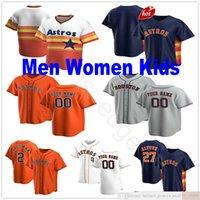 Custom 2021 homens mulheres juventude jerseys baseball evan gattis brantley martin maldonado lance mccullers collin mchugh josh reddick zack greinkke jersey