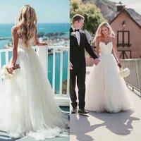 Beach Wedding Dresses Bridal Gown 2022 Spaghetti Straps Designer Simple Satin Ruffles Tulle Sweep Train Custom Made Plus Size vestidos de novia