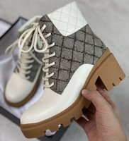 جديد إمرأة GG الكاحل الأحذية العليا قماش أحذية جلد طبيعي منصة التمهيد الدانتيل يصل مارتن الأحذية الصحراء الأحذية أعلى جودة مع مربع