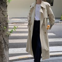 Women's Trench Coats Alien Kitty Apricot Oversize Straight Casual Stylish Women Solid Chic Work Wear All Match Loose Autumn Lady Elegant