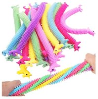 DHL Fidget Juguetes Favorecer juguete sensorial Fideos Cuerda TPR Stress Reliever Unicorn Malala Le Decompression Pull Ropes Alivio de ansiedad para niños Divertido CT30