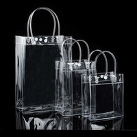 Packing Bags 10Pc Transparent Shopping Bag Clothing Jewelry Store Tote Waterproof PVC Gift Environmentally Travel Storage