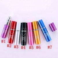 5ml Perfume Bottle Portable Mini Aluminum Refillable Bottles Spray Empty Makeup Containers With Atomizer For Traveler Party Favor RRA4456