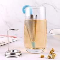 Mesh Strainer Tool with Silicone Lid Reusable Umbrella Tea Infuser Set Drip Tray for Cups Mugs and Teapots Stainless Steel Fine HHE9378