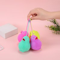 string flash TPR pinching music children stretchy spread small toy fine soft fur lovely color duck without feet