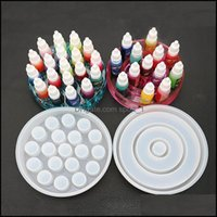 Tools & Equipment Jewelrystorage Sile Molds Pigment Dye Bottle Holder Uv Epoxy Resin Mod For Box Making Jewelry Craft Mold Supplies Drop Del