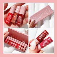 Lip Gloss 1pcs Mini Velvet Glaze Waterproof Non-stick Long Cosmetic Lipstick Moisturizing Colors Makeup Korea 10 Lastin P1n6