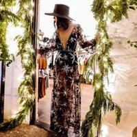 Заправка для женщин Платье Лето 2021 Пляж Мэй Майка Новая Кружевная Вышивка Животное Ацетат Сьерра Серфер Бикини Купальный костюм