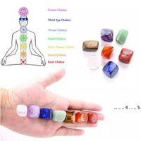 Crystal Naturel Chakra Stone 7pcs Ensemble de pierres naturelles Palme Reiki Cristaux de guérison Gemstones Yoga Énergie Cristal Naturel Chakra EWA4146