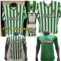 21 22 Atletico Nacional Medellin H.Barcos Futbol Forması Kolombiya Kulübü Medellin 20120 Ev Futbol Adam Çocuklar Spor Üniforma Futbol Gömlek