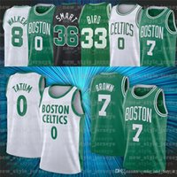 0 Jayson 8 Kemba Tatum 7 Jaylen Walker Smart Brown 33 Larry 36 Marcus Birdبوسطنسلتيكسالرجال كرة السلة الفانيلة S7