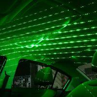 2 STÜCK USB LED Auto Dachstern Nacht Inneneinrichtung Aluminiumlegierung Green Star Nachtlicht Atmosphäre Galaxie Lampe Zubehör 5V 0.2A