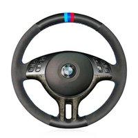 DIY боковая перфорированная кожаная крышка руля M-цвет шить для BMW E39 E46 2000-2005 / x5 E53 2000-2001