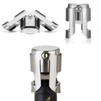 Edelstahl-Vakuum-versiegelte Rotwein-Flaschen-Stopper-Stecker-Drücken von Typ Champagner-Kappe Abdeckung Lagerung Küchenbar-Werkzeuge OWF8647