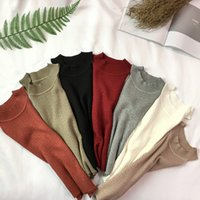 Knit Camis Top Women Knitting Off-shoulder Tank Crop Tops Girls Knitted Camisole Sleeveless Short Tee Shirts For Woman
