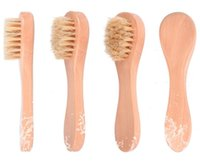 Face Cleansing Bath Brush for Facial Exfoliation Natural Bristles cleaning Brushes Dry Brushing Scrubbing with Wooden Handle Bathing