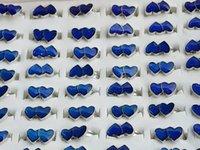 Doppelpfirsich Herzformen Stimmungsringe Einstellbare Farbwechselring Mode Ringe für Männer und Frauen Großhandelspreis