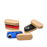 Tubulação de madeira dobrável mão portátil portátil fumar canos duplos camada multicolor tubos ao ar livre acessórios para fumar pequenos OOC6537