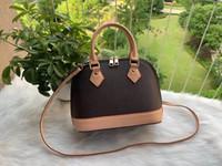 Luxurys Designer Alma Bb Shell Tasche Frauen Leder Blume geprägte Umhängetaschen Crossbody Bag Messenger Handtaschen mit Schloss-Schultergurt