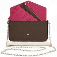 Original Alta Qualidade Luxurys Designers bolsas de bolsa Moda Moda Monogrames Multi Pochette Felicie Chain Crossbody Bag