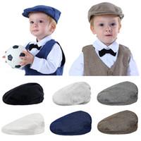 Baby Boys Herringbone Chapéu Liso Criança Criança Berets Elásticos Chapéus Crianças Partido Cap Boné Infantil Chapéu ToDdler Tampa Do Vintage Caps