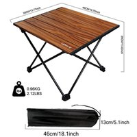 Camp Furniture Lighten Up Portable Folding Table Outdoor Camping Home Picnic Aluminum Alloy Fishing