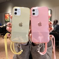 Transparent Crossbody Necklace strap Lanyard Cord phone cases for iphone 12 Pro Max MiNi 11 X XR XS 6S 7 8 plus cover