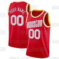 Custom Eric 10 Gordon Basquetebol HoustonFoguetesHarden John 1 Wall Christian 35 Jerseys de madeira Malha Tucker 15 primos basquete