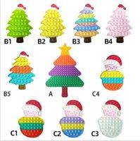 US-Aktienzappeln Zappeln Spielzeug Pioneer Weihnachtsbaum Schneemann Kinder Desktop Puzzle Dekompression Spielzeug Finger Bubble Lindere Angst